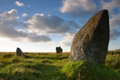 Standing stone. A standing stone on Dartmoor, UK Royalty Free Stock Image