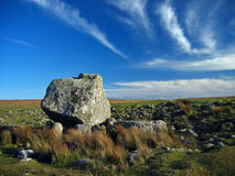 Standing stone. Neolithic burial chamber Stock Photography