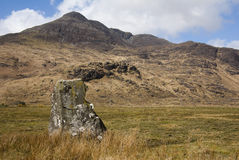 Standing Stone and Ben Buie Royalty Free Stock Images