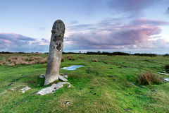 Standing Stone on Bodmin Moor Royalty Free Stock Photo