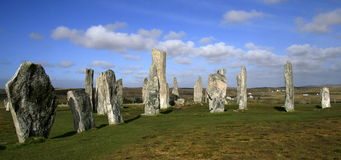 Standing stone - callanish stones Royalty Free Stock Photography
