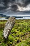 Standing stone on the coast of Ireland Stock Photography