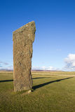 Standing stone with copyspace Royalty Free Stock Photography