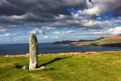 Standing stone. At Dunmore head, Dingle peninsula, co Kerry, Ireland Royalty Free Stock Image