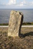 Standing Stone at Malpica; Fisterra. Costa de la Muerte; Galicia; Spain Stock Photography