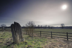 Standing Stone, Matfen Stock Photography