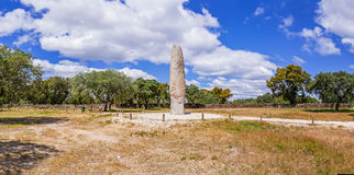 The Standing Stone / Menhir of Meada, the largest of the Iberian Peninsula Royalty Free Stock Photography