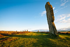 Standing stone at ring of brodgar Royalty Free Stock Photography