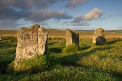 Standing stones stock photos