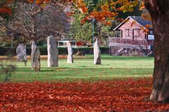 Standing stones in Autumn Royalty Free Stock Image