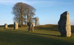 Standing stones at the Avebury Stone Circle. Avebury Standing stones in the ancient large stone circle Stock Photos