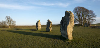 Standing stones at the Avebury Stone Circle. Avebury Standing stones in the ancient large stone circle Stock Images