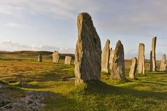 Standing stones of callanish Stock Photo