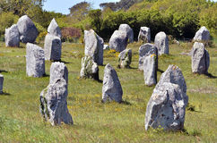 Standing stones at Carnac in France Stock Photos