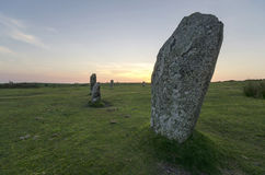 Standing Stones in Cornwall Royalty Free Stock Image