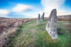 Standing Stones on Dartmoor Royalty Free Stock Photography