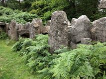 Standing stones at the Druid`s Temple, Masham, Yorkshire royalty free stock photo