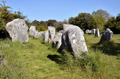 Standing stones at Erdeven in France Stock Image