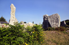 Standing stones at Erdeven in France Stock Images