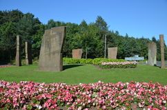 Standing Stones in Glenrothes Royalty Free Stock Photos