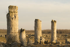 Standing Stones natural phenomenon Stock Image