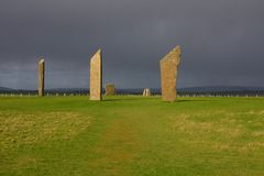 Free Standing Stones Of Stenness Royalty Free Stock Image - 24232636