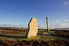 Standing Stones. Ring Of Brodgar, Orkney. World Heritage Site Royalty Free Stock Photography