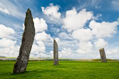Standing stones of stenness Stock Photo