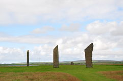 Standing stones of Stenness. The Standing Stones of Stenness is a Neolithic monument five miles northeast of Stromness on the mainland of Orkney, Scotland Stock Image