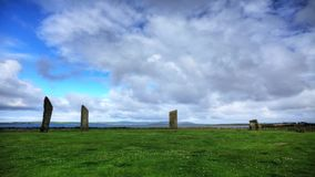 Standing Stones of Stenness, Orkney stock video