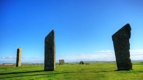 The Standing Stones of Stenness, Orkney, Scotland stock video