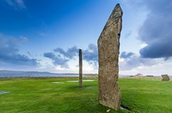 Standing Stones of Stenness, Orkney stock photo