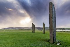 Standing Stones of Stenness stock photos