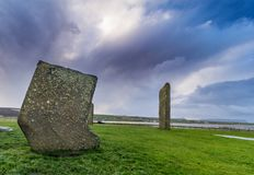 Standing Stones of Stenness Stock Photography