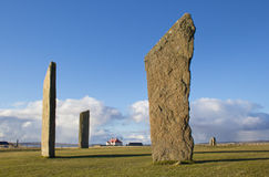Standing Stones World Heritage Site Stock Image