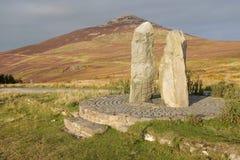 Standing stones, Yr Eifl. Stock Image