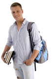 Standing student wishing goodluck Royalty Free Stock Photo