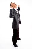 Standing successful young boss Royalty Free Stock Photos