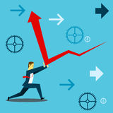 Standing survive. Businessmen and deflect upwards survive the financial downturn. Concept business  illustration. All of the situation in office, unique life of Stock Photos