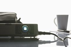 Projector in office stock photography