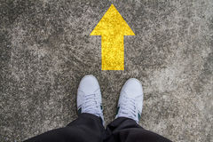 Standing on a tarmac road Royalty Free Stock Photos