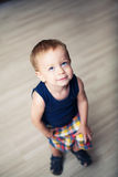 Standing toddler with head raised up royalty free stock photos
