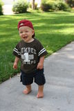 Standing Toddler on path Royalty Free Stock Images