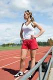 standing track woman Στοκ φωτογραφία με δικαίωμα ελεύθερης χρήσης