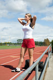 standing track woman Στοκ εικόνες με δικαίωμα ελεύθερης χρήσης