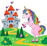 Standing unicorn theme image 6 Royalty Free Stock Images
