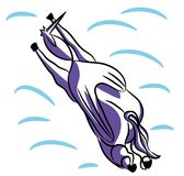 Flying Unicorn vector illustration Stock Photos