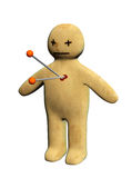 Standing voodoo doll Royalty Free Stock Image