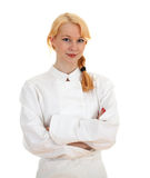 Standing woman cook i Royalty Free Stock Photos