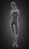 Standing woman radiography Royalty Free Stock Photo